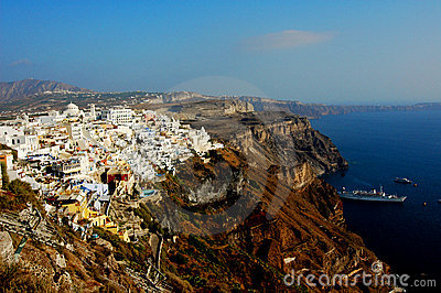 Thira (Fira) in Santorini, Grecia