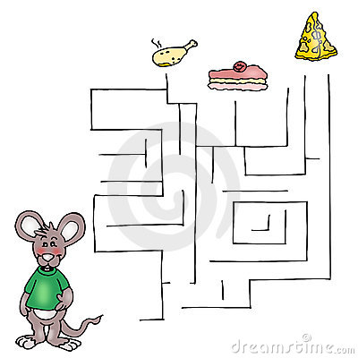 The third game, the labyrinth of the mouse