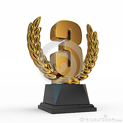Third Place Trophy Cup Royalty Free Stock Images Image 25897279