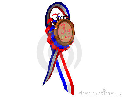 Third prize medal rotated