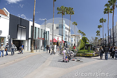 Third Street Promenade in Santa Monica California Editorial Photo
