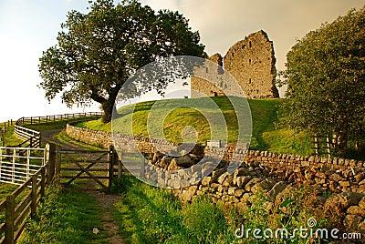 Thirlwall castle, British landscape, England, UK