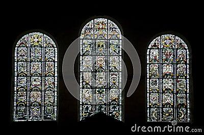 Thiron-Gardais, stained glass