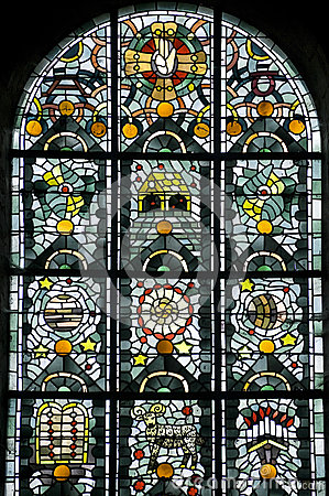 Thiron-Gardais, stained glass