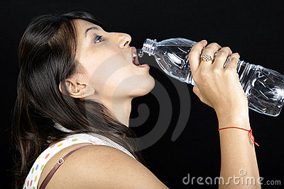 Thirsty girl
