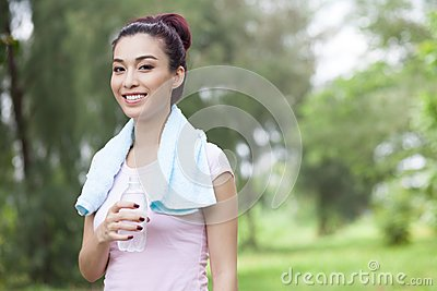 Thirsty jogger