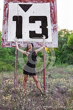 Thirteen river sign