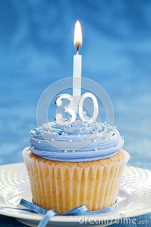 Free Thirtieth Birthday Cupcake Stock Photo - 13592420