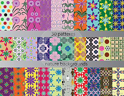 Thirty patterns backgrounds nature