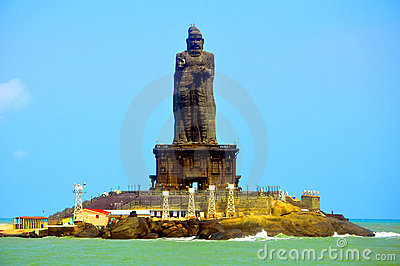 Thiruvalluvar statue at kanyakumari