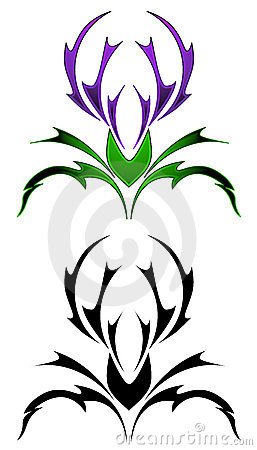 thistle tattoo royalty free stock photo image 19304865 Family Clip Art Black and White hearts black and white clipart