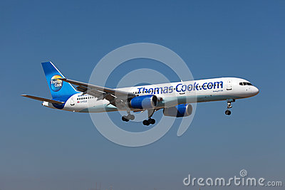 Thomas Cook Boeing 757-200 Editorial Stock Image