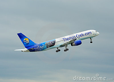 Thomas Cook Boeing 757 Editorial Stock Photo