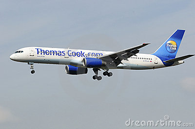 Thomas Cook Boeing 757 UK Editorial Photography