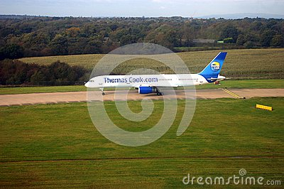 Thomas Cook flight Editorial Photography