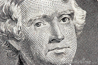 Thomas Jefferson close up