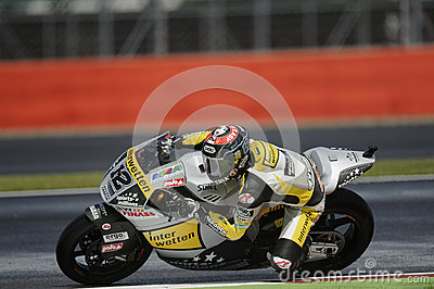 Thomas luthi, moto 2, 2012 Editorial Stock Image