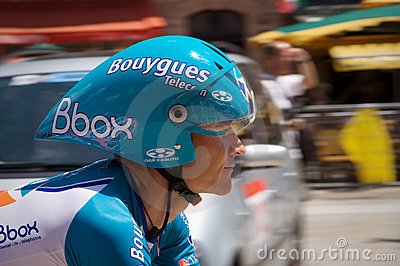 Thomas Voeckler - Stage 4 - Tour de France 2009 Editorial Photo