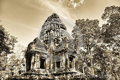 Thommanon temple in  Angkor   Cambodia