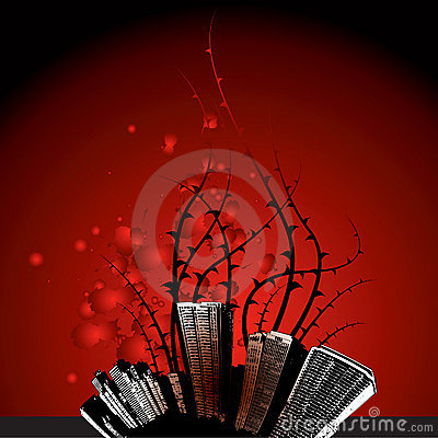 Free Thorns Growing From The City Stock Photo - 5362480