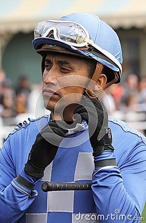 Vollblütiger Jockey Jose Valdivia, Jr. Redaktionelles Foto - Bild: 38250151 - thoroughbred-jockey-daniel-vergara-23522014