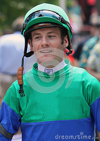Thoroughbred Jockey Julien Leparoux Editorial Stock Photo