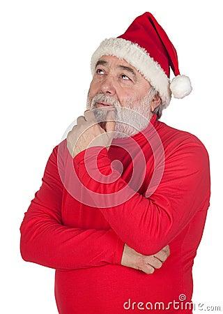 Thoughful Santa Claus