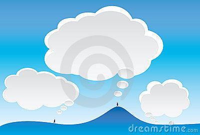 Thought Clouds and Sky