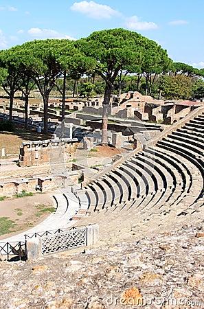 Ruins of amfitheatre and fire brigade ostia antica italy for Mr arredamenti ostia antica