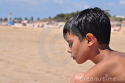 Thoughtful Beachgoer