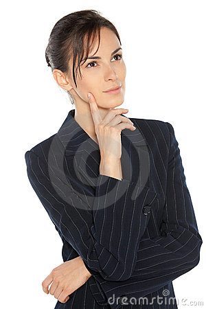 Thoughtful business woman