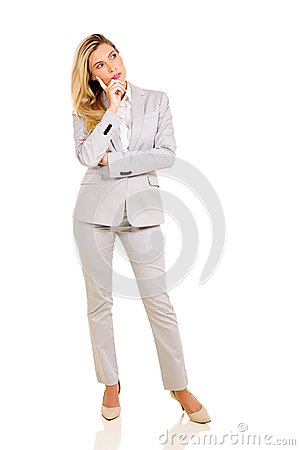 Free Thoughtful Businesswoman Stock Photo - 54125680