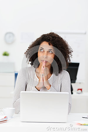 Free Thoughtful Businesswoman Seeking Inspiration Royalty Free Stock Photography - 37801637