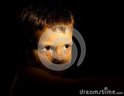 Thoughtful child portrait
