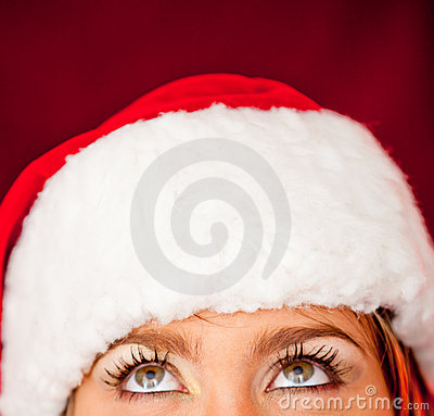 Thoughtful female Santa