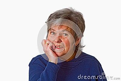 Thoughtful female senior