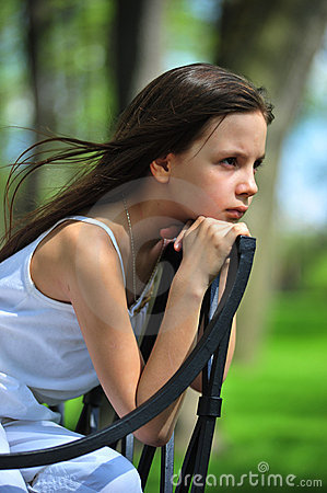 Free  Thoughtful Little Girl. Royalty Free Stock Photos - 14333238