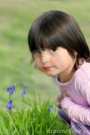 Free Thoughtful Little Girl Stock Photos - 585253