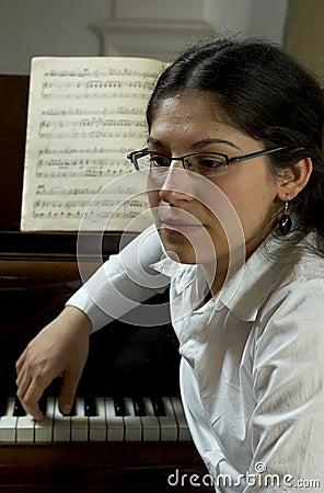 Thoughtful Piano Teacher