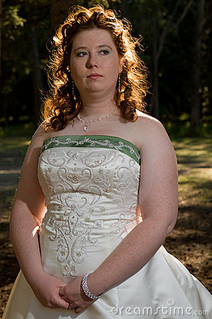 Thoughtful Redheaded Bride