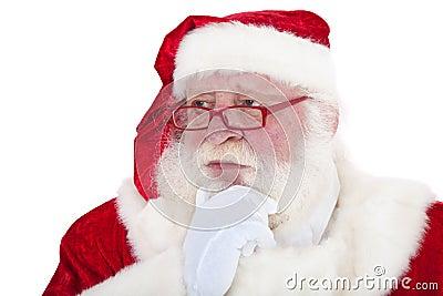 Thoughtful Santa Claus