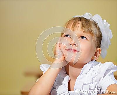 Thoughtful schoolchild