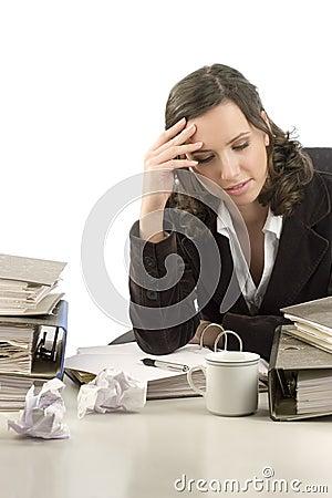Free Thoughtful Secretary Stock Image - 1730251