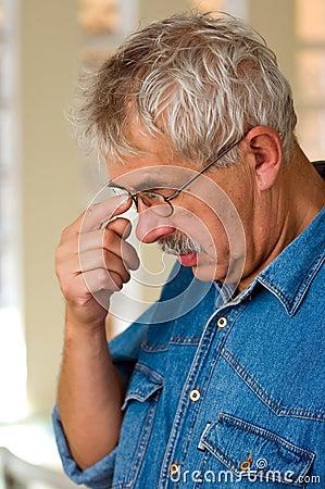 Thoughtful senior man