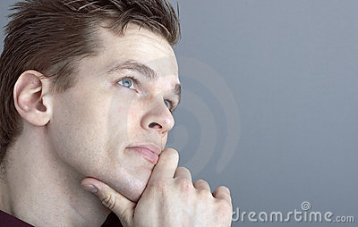 Thoughtful young man