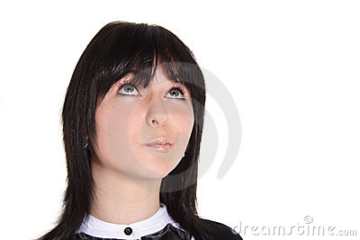 Thoughtful Young Woman Royalty Free Stock Image - Image: 9655066