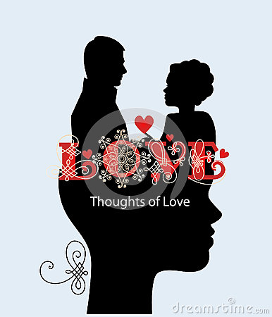 Thoughts of love couple