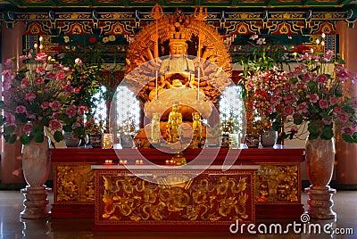 Thousand hands of Goddess of Mercy, Guan Yin