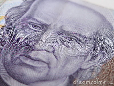 Thousand Mexican Peso Bill Close UP