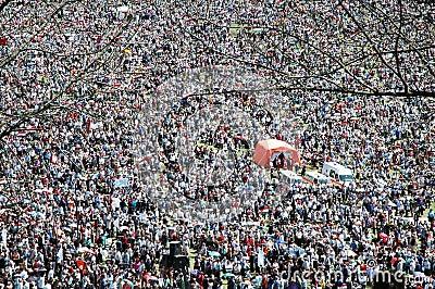 Thousands of Hungarian pilgrims Editorial Photo